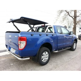 """Couvre Benne """"Multi-positions"""" + roll bar inox pour Ranger 2012 Super Cabine"""