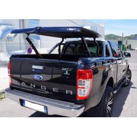 """Couvre Benne """"Multi-positions"""" pour Ranger Super Cabine 2012 compatible avec le roll bar d'origine FORD"""