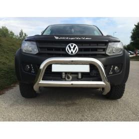 PARE BUFFLE INOX POUR VW AMAROK - Ø90mm