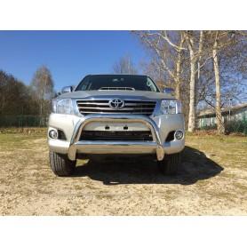 Pare buffle inox sans griffes pour Toyota Hilux de 2005 à 2015