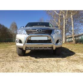 Pare-buffle inox avec griffes pour Toyota Hilux - Ø90mm
