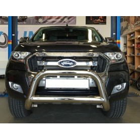 Clawless stainless steel parebuffle for Ford Ranger T6