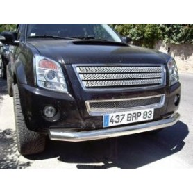 Stainless front bumper embellishment for D-Max before 2012