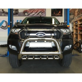 Parebuffle stainless steel with claws and LEDs for Ford Ranger T6