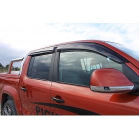Kit of 4 black air deflectors for Volkswagen Amarok