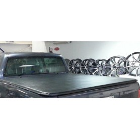 Foldable semi-rigid dumpster cover for Double Long Dump cab