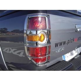 Grilles inox de feux arrières pour MAZDA BT50 Avant 2012