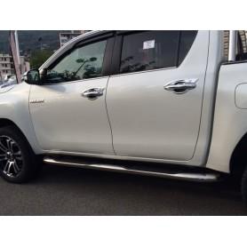 Jeu de Marche Pieds Tubulaires Inox Toyota Hilux Revo à partir de 2016