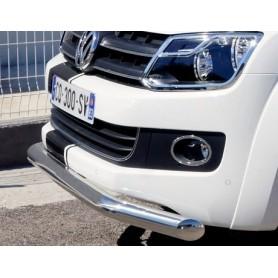 Stainless front bumper embellishment for Volkswagen V6
