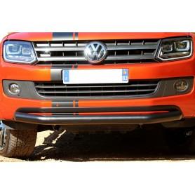 Stainless front bumper embellishment for Volkswagen