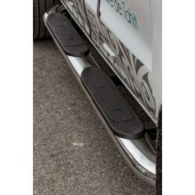 Jeu de marche-pieds tubulaires en inox Ford Ranger T6