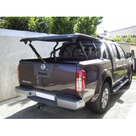 """Couvre Benne """"Multi-positions""""+ roll bar inox pour Double Cabine"""