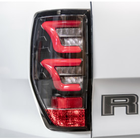 Led Ranger Back Fires - Clear Glasses - Black Funds - Red Leds