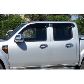 Déflecteurs de vitres pour Ranger Double Cabine avant 2012