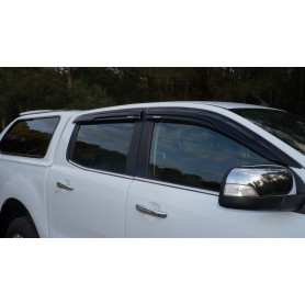 Air deflectors kit for Ford Ranger 2012 Double cabin