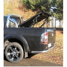 """Couvre Benne """"Multi-positions"""" + roll bar inox pour Super Cabine"""